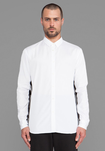 public-school-white-contrast-under-sleeve-button-down-in-white-