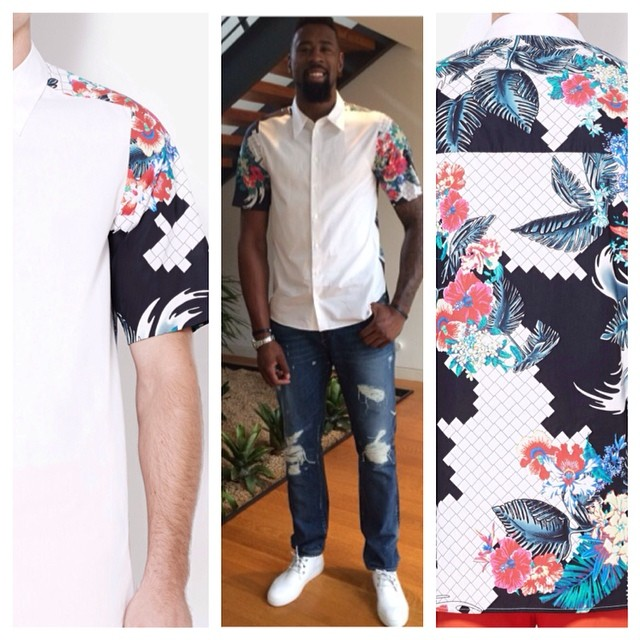 STYLE: NBA Deandre Jordan Wearing Phillip Lim Raglan Button Up Shirt