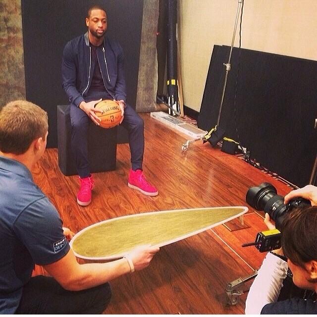 Dwyane-Wade-2014-NBA-All-star-weekend-Paul-smith-bomber-jacket-Balenciaga-sneakers