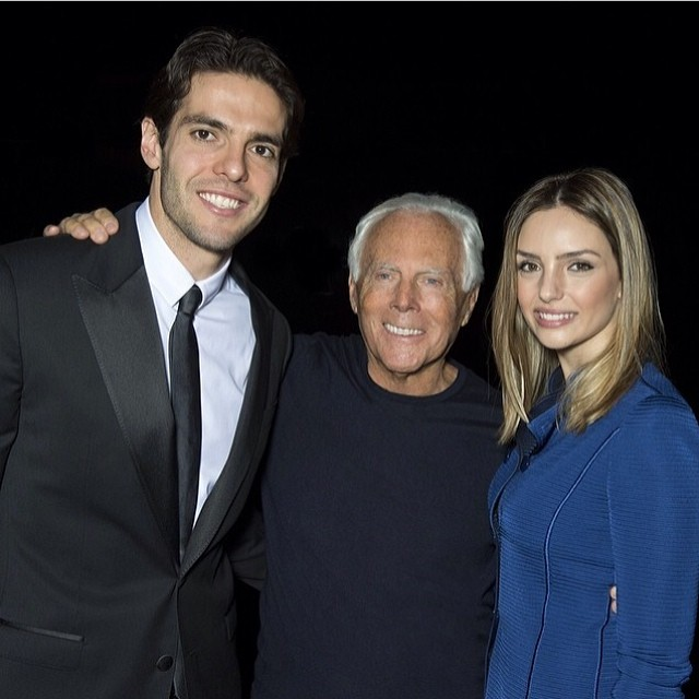 Ricardo-Kaka-Instagram-Armani-Fall-2014-Milan-fashion-week