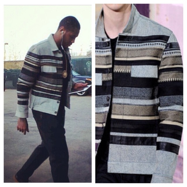 STYLE: NBA Carmelo Anthony Wearing 3.1 Phillip Lim Fall/Winter 2013 Jacket