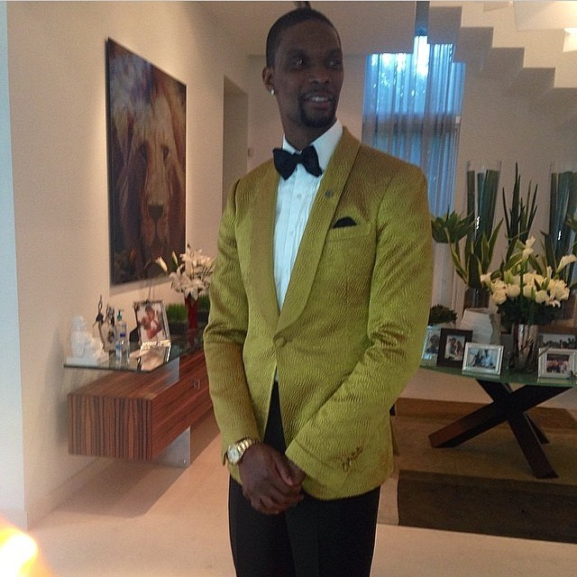 STYLE: Chris Bosh 30th Birthday Custom Waraire Boswell Tuxedo & Lanvin Bowtie