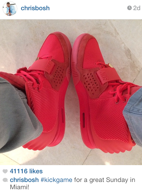 NBA-Chris-Bosh-instagram-Nike-Air-Yeezy-2-red-october