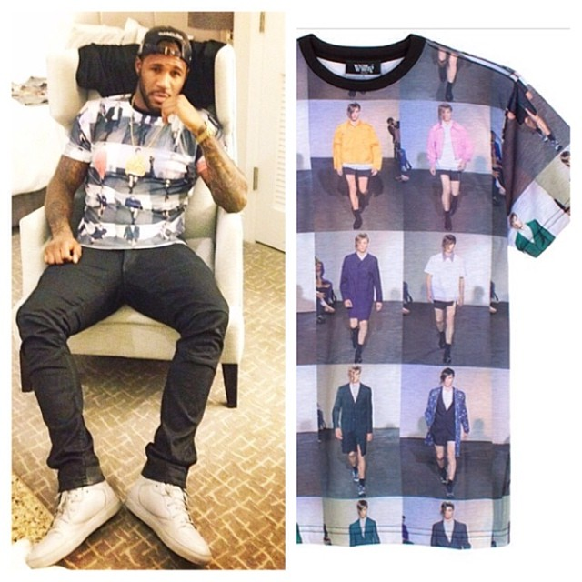 NFL-Andre-Branch-Instagram-Wil-Fry-Raf-Shirt-Balenciaga-sneakers