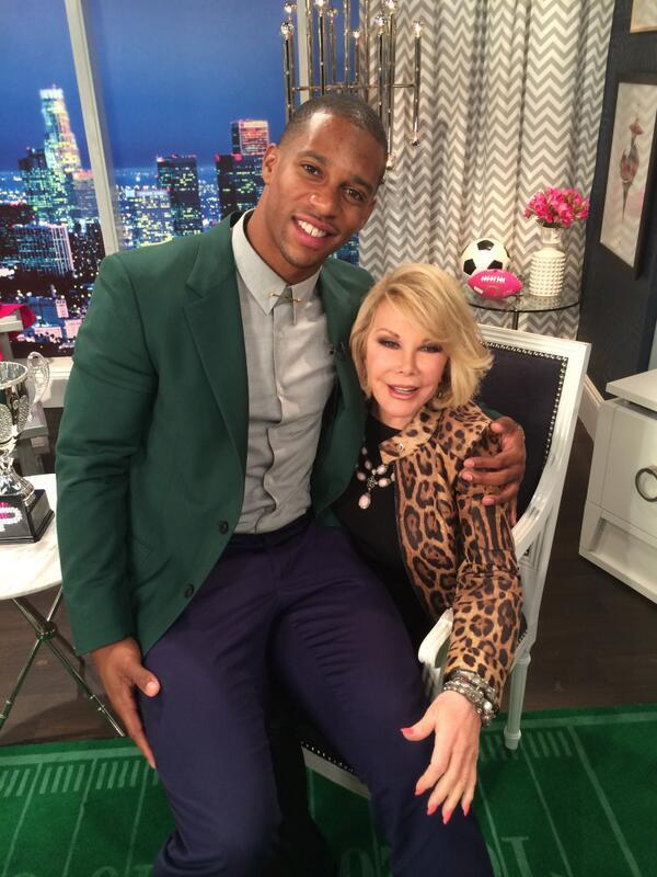 STYLE: NFL Victor Cruz Visits E! Fashion Police Wearing Prada Blazer & Brioni Trousers