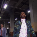 Chris-Paul-leaves-floral-print-jacket-american-apparel-jacket-2014-nba-Playoffs-game-4-round-1-3