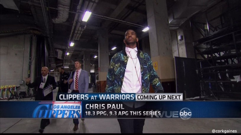 Chris-Paul-leaves-floral-print-jacket-american-apparel-jacket-2014-nba-Playoffs-game-4-round-1