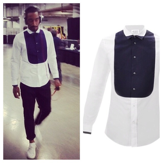 JR-Smith-Maison-Margiela-bib-front-tuxedo-shirt-1