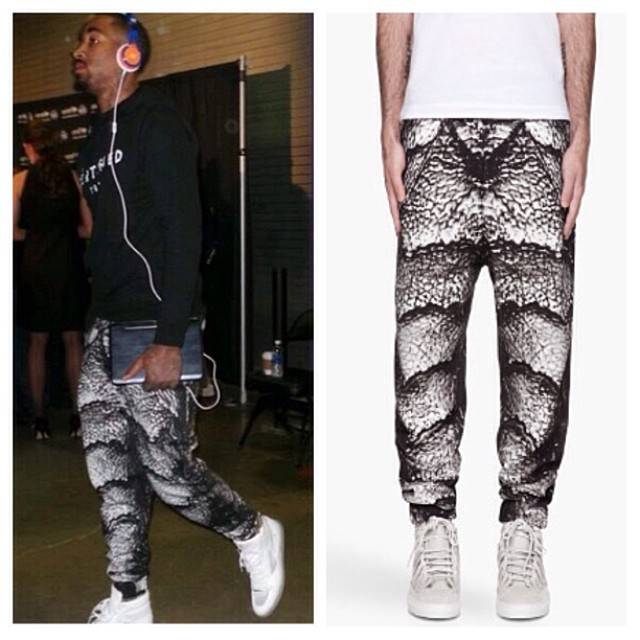 Knicks-JR-Smith-Instagram-Christopher-Kane-Sweatpants