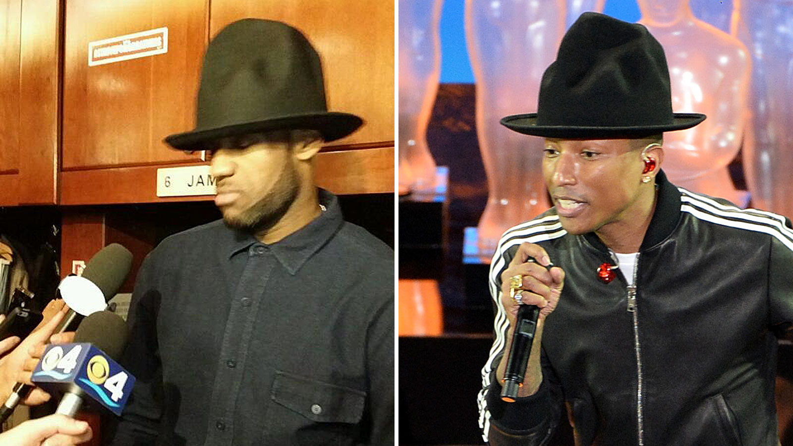STYLE  Lebron James Wearing Pharrell Williams Tall Hat 7b2ada18423