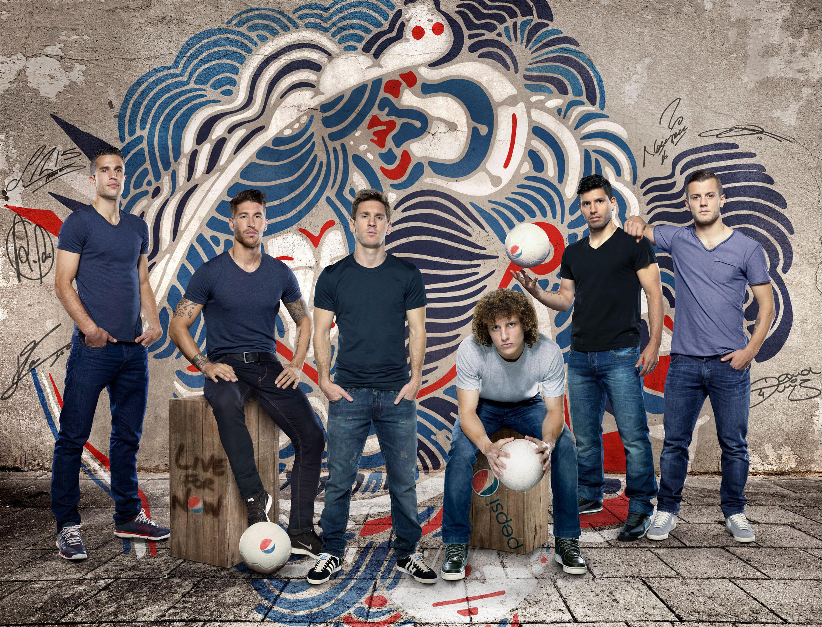 "Pepsi ""NOW IS WHAT YOU MAKE IT"" Commercial Feat Lionel Messi, Robin van Persie, David Luiz, Sergio Ramos, Sergio Agüero, and Jack Wilsher"