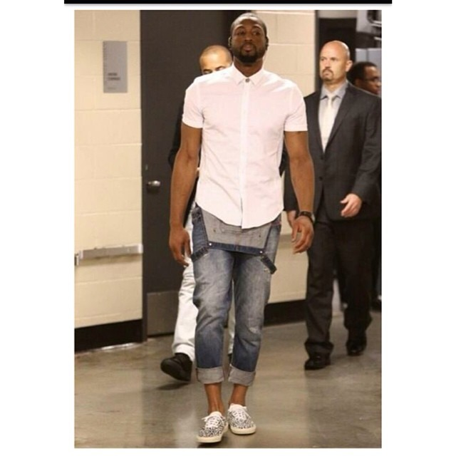 Dwyane-Wayne-2014-nba-playoffs-game-3-denim-overalls