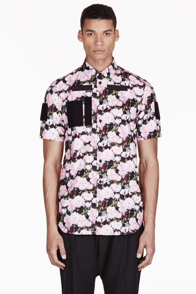 Givency-rose-print-shirt
