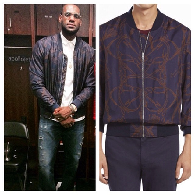 Lebron-James-2014-NBA-PLayoffs-Gucci-cheval-print-jacket-game-4-round-2