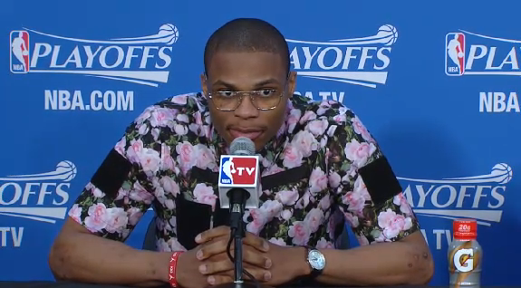 Russell-Westbrook-Givenchy-floral-print-shirt-2014-nba-playoffs-round-2-game-3