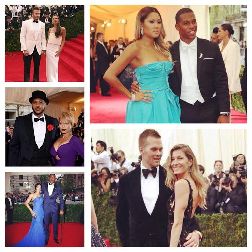 Athletes Attend Met Gala 2014: David Beckham, Carmelo Anthony, Amar'e Stoudemire, Victor Cruz, & Tom Brady