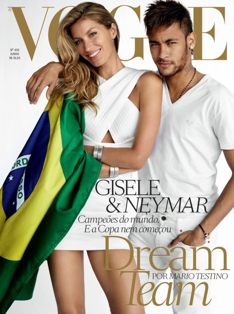 Footballer Neymar Covers Vogue Brazil June 2014