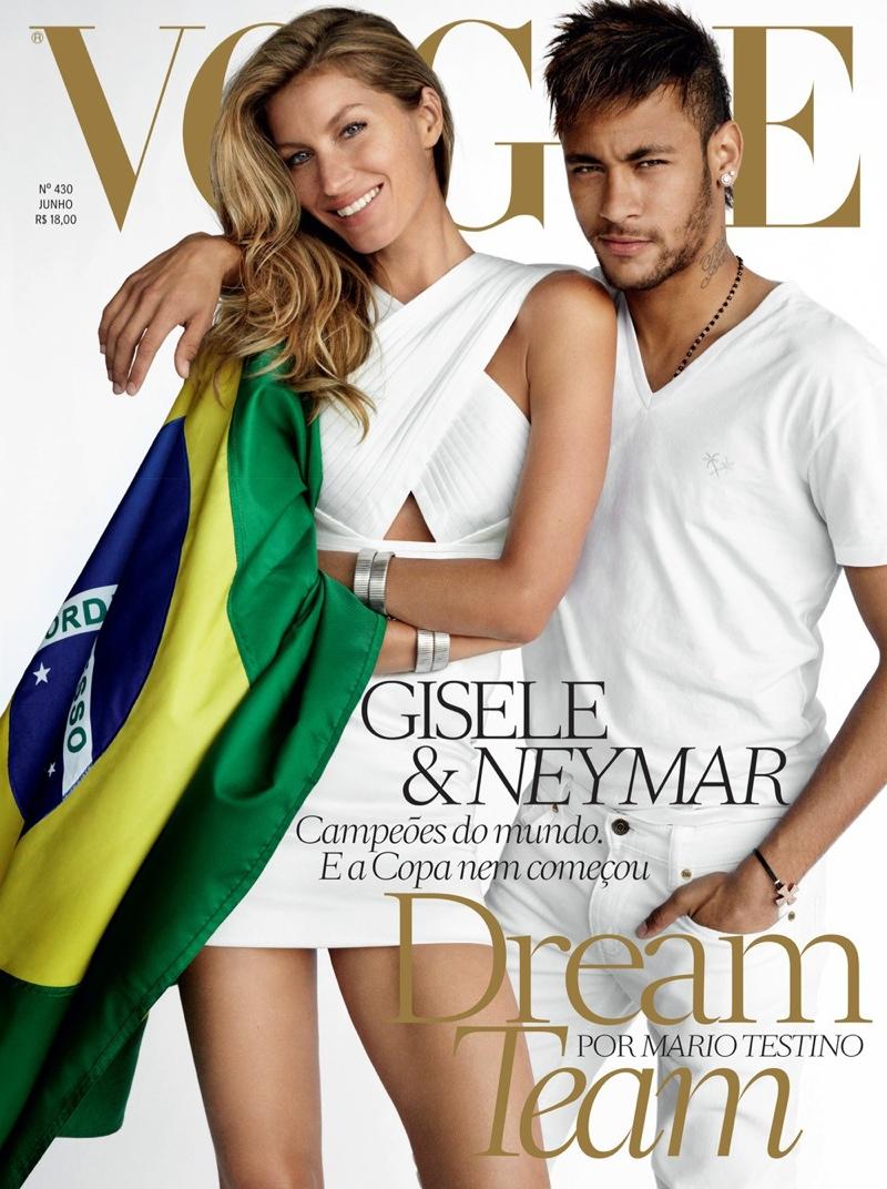 Footballer Neymar Covers Vogue Brazil June 2014