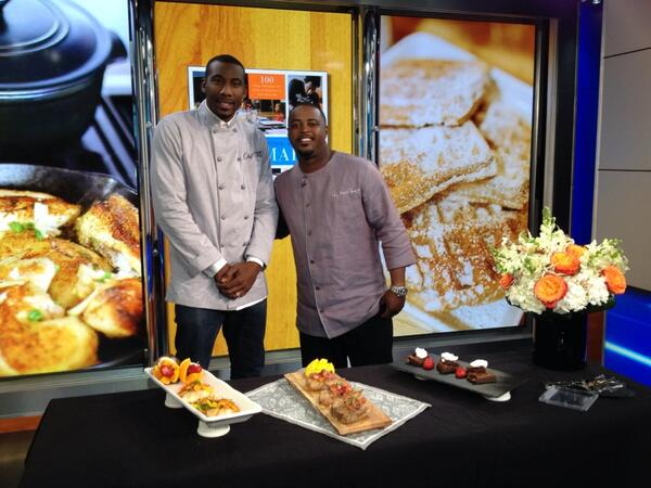 "Amar'e Stoudemire & Chef Max Hardy Talk New Cookbook 'Cooking With Amar'e"" On New York Live TV"
