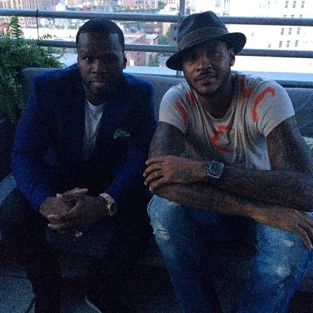Carmelo Anthony & 50 Cent Launch SMS Audio Sports Collection