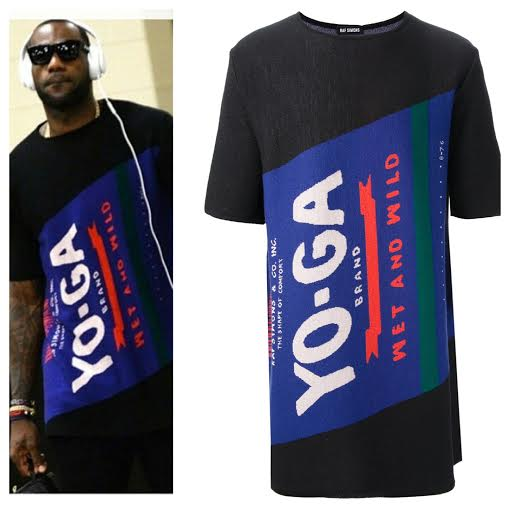Lebron-James-fashion-raf-simmons-yo-ga-shirt-nike-air-yeezy-2-sneakers-2014-nba-finals