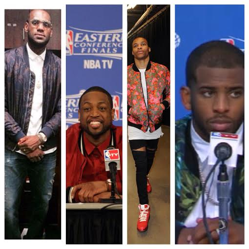 Lebron-james-Dwyane-wade-russell-westbrook-chris-paul-fashion-bomber-jacket