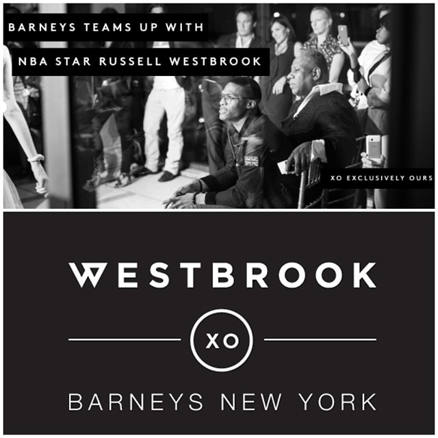 NBA Russell Westbrook Collabs With Barneys New York On Exclusive Collection.