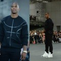 Victor-Cruz-paris-fashion-week-Givenchy-Basketball-sweater-givenchy-tyson-high-top-sneakers-givenchy-spring-2015-show-2