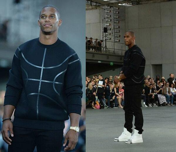 STYLE: Victor Cruz Paris Fashion Week Givenchy Basketball Sweater & Givenchy Tyson High-top sneakers