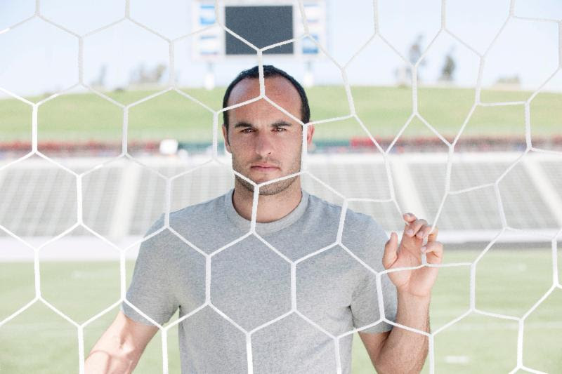 U.S. Soccer star Landon Donovan Shows Off His Soccer Skills During Neutrogena Men's Interview