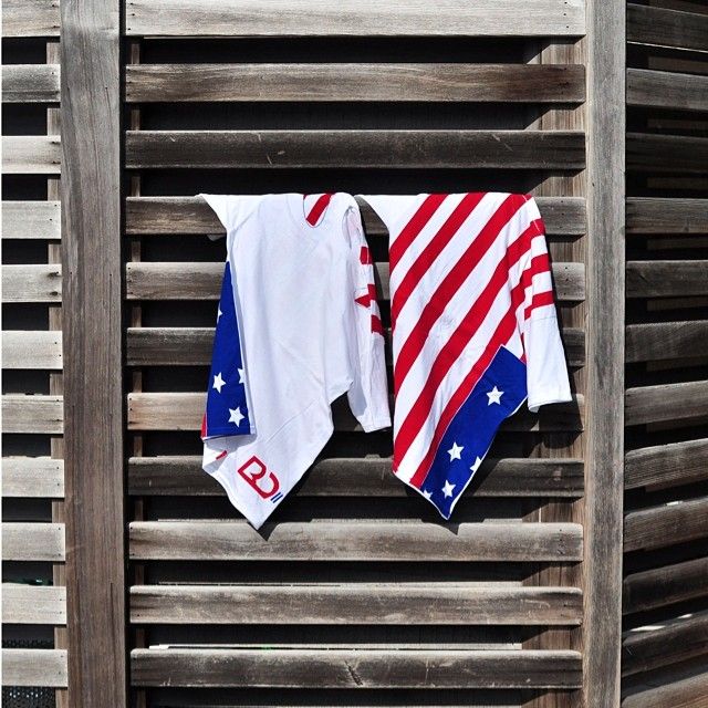 STYLE: US Soccer Brad Davis x Grungy Gentleman World Cup 2014 American Flag Cape t-shirt.