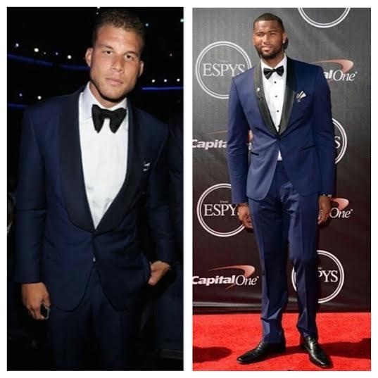 Blake-Griffin-Waraire-Boswell-Demarcus-Cousins-suit-2014-ESPY-ESPYS