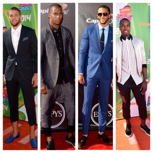 TREND: Athletes Wear Ankle-Length Pants For 2014 ESPYS & Nickelodeon Kids Choice Sports