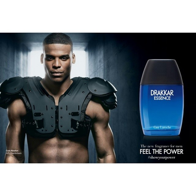 NFL Cam Newton Face Of New Drakkar Essence Campaign