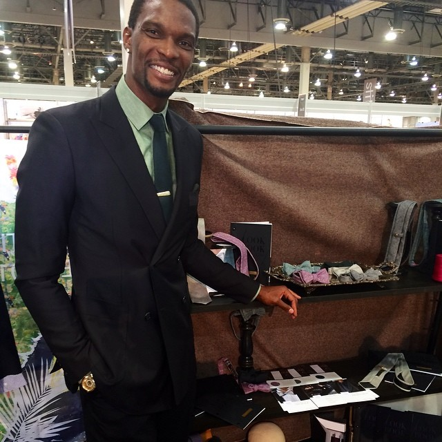 NBA Chris Bosh Debuts Mr. Nice Tie Collection At Vegas Mrket Show Expo.