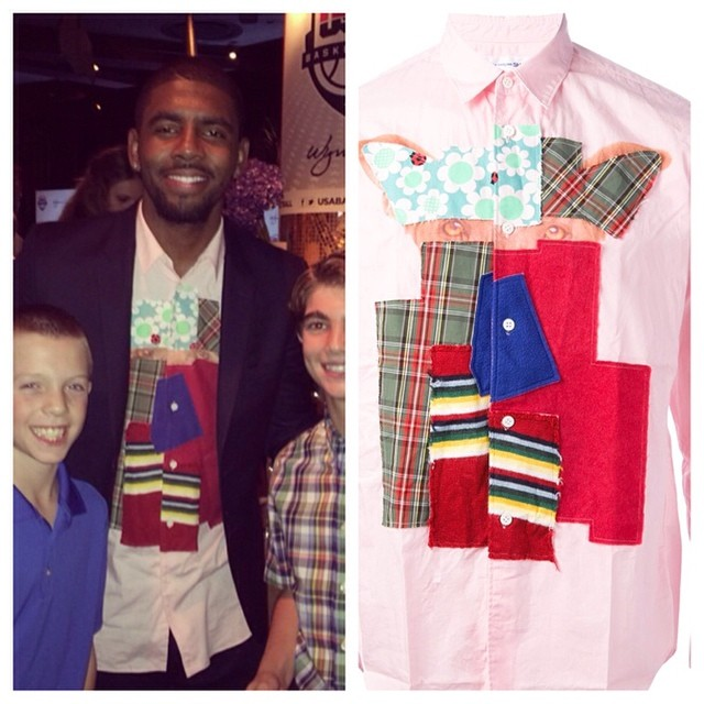 STYLE: Kyrie Irving's Instagram Comme Des Garcons Patchwork Shirt