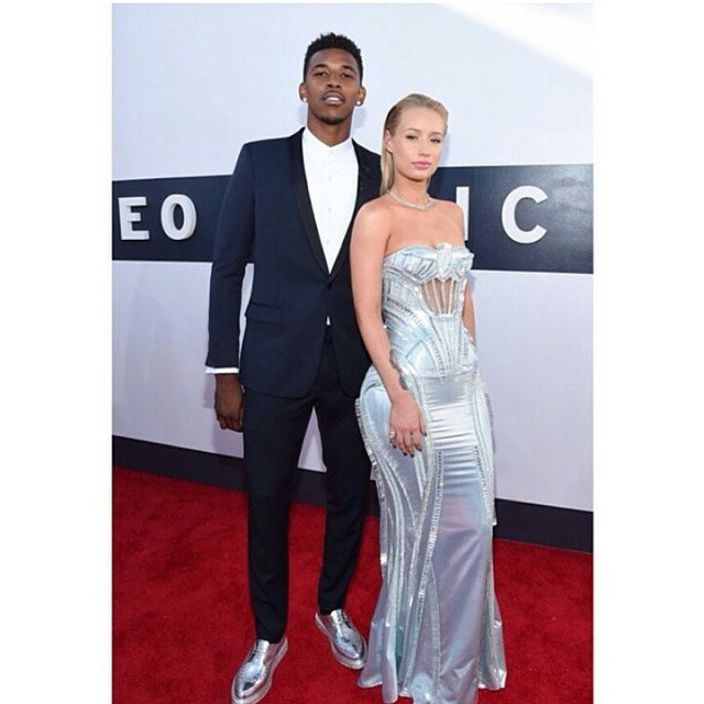 STYLE: NBA Nick Young's 2014 MTV VMA's Saint Laurent Creepers Lace-Up Shoes