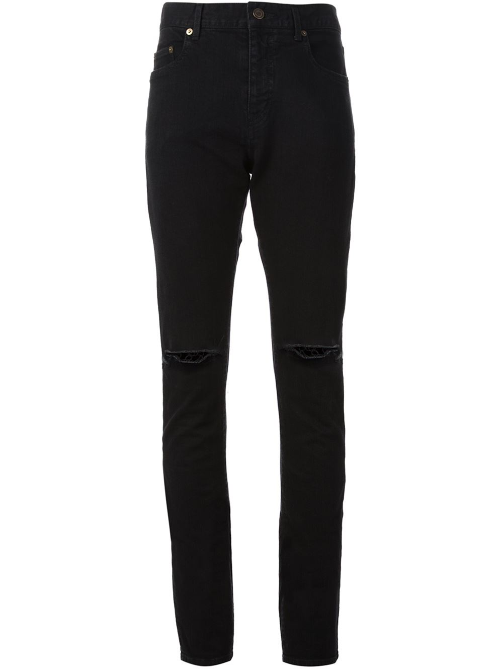 Saint-Laurent-ribbed-jeans