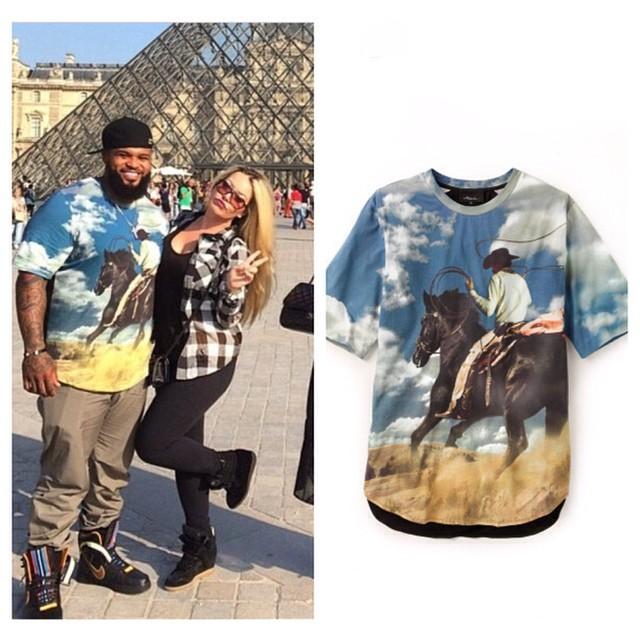 STYLE: MLB Prince Fielder's Instagram 3.1 Phillip Lim Cowboy Print T-Shirt.