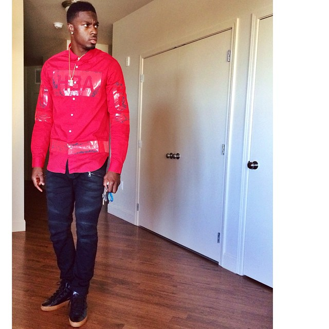 STYLE: NFL A.J. Green's Instagram Hood By Air Hockey Button Down Shirt