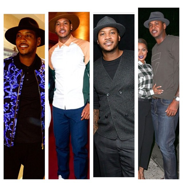 TREND: Carmelo Anthony's Wool Fedora Hat Fall 2014