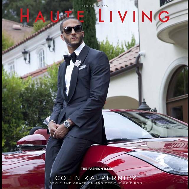 NFL Colin Kaepernick Covers Haute Living Magazine, Talks Fashion, Branding, Tattoos And More