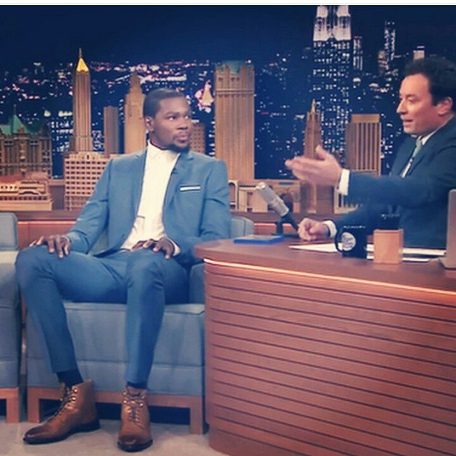 Kevin Durant Visits Jimmy Fallon Show, Talks Playing As Lebron James in NBA 2K15 And More