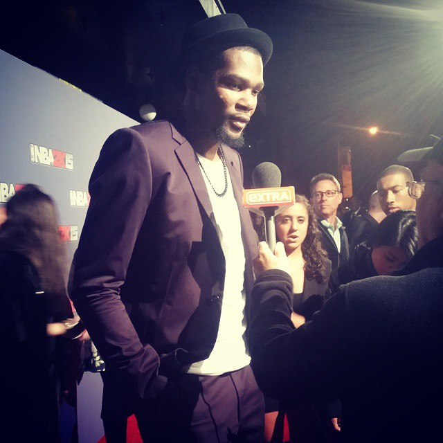 Kevin Durant, Russell Westbrook, James Harden & More Attend NBA 2K15 Launch Event