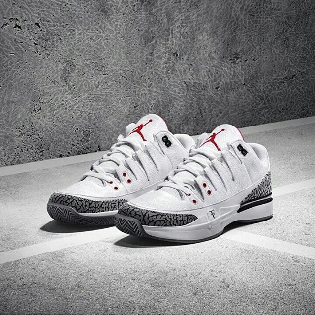 Roger Federer And Michael Jordan Team Up For Nike Zoom Vapor 9 Tour AJ3