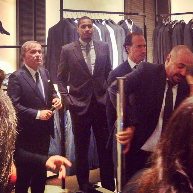 STYLE: NBA Carmelo Anthony Hosts Giorgio Armani 'Wall Street' Collection Event At Saks Fifth Avenue