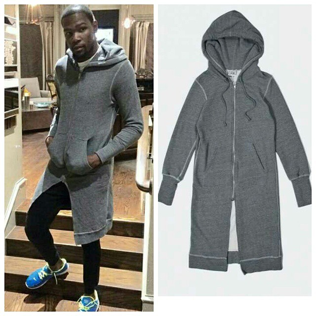 STYLE: Kevin Durant's Oak Long Slouch Hoodie