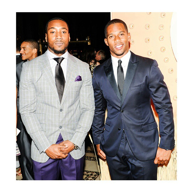 STYLE: NFL Victor Cruz And Mario Manningham Attend New Yorkers For Children Annual fall gala