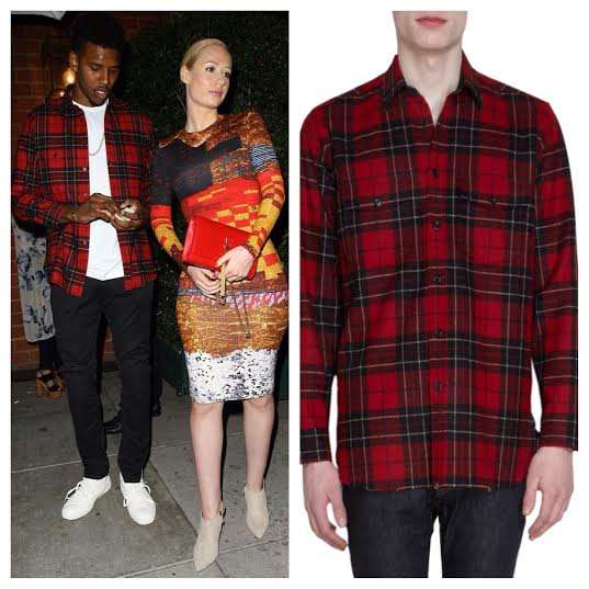 STYLE: NBA Nick Young's Saint Laurent Red Plaid Wool Flannel Shirt