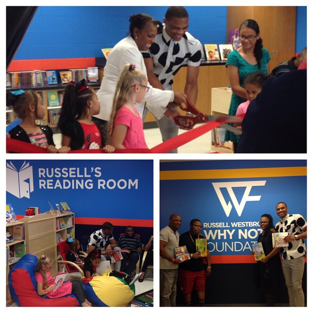NBA Russell Westbrook's WHY NOT? Foundation Presents Russell's Reading Room and Russell's Reading Challenge To Promote Literacy For Youth
